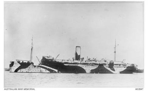 HMAT 'Warilda' after 1917. Photographer unknown, photograph source AWM A02847