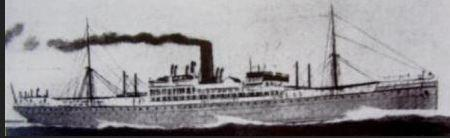 HMAT 'Port Melbourne'. Photographer unknown, photograph sourced and reproduced with permission of  Great Southern Cards
