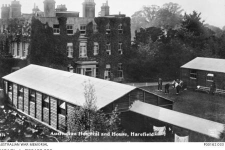 Harefield House and General Hospital No.1 and Auxilliary Hospital. Photographer unknown, photograph source AWM P00162.033