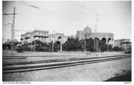1st Australian General Hospital at Heliopolis,l, Cairo. Photograph donor E. Claydon, photograph source AWM J0950