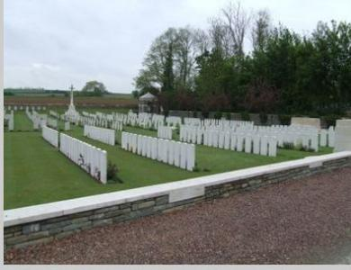 Jeancourt Communal Cemetery. Photograph source British War Graves