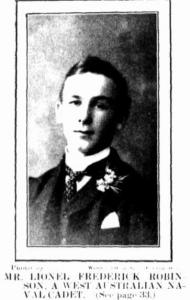 Naval Cadet. L.F. Robinson Image Western Mail 5.3.1904 p26