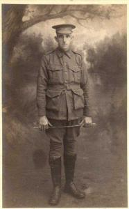 Leslie Frank Piercy 13th Aug 1917 at Blackboy Hill. Photograph donated by G.Poiercy, photograph source SGHS Pictorial Collection