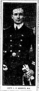 Lieut. Lionel F. Robinson. Photograph source The Journal Adelaide 11.5.1917 p1