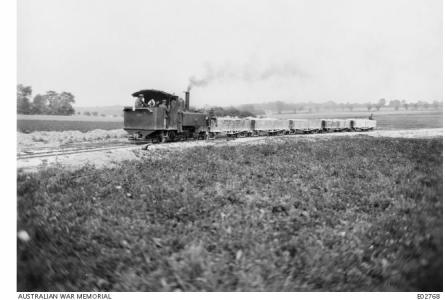 Light Rail France 1918. Photographer unknown, photograph source AWM E02768