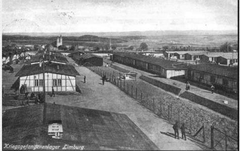 Limburg POW Camp, Germany. Photographer unknown, photograph source Irish Prisoners of War website