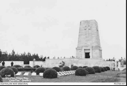 Lone Pine Memorial. Photographer unknown, photograph source AWM P02768.007