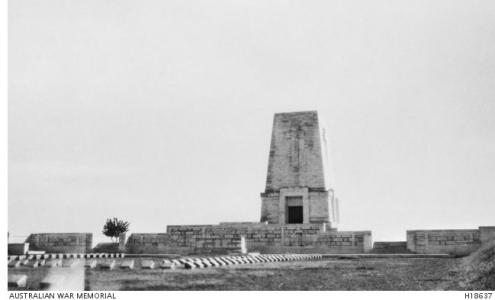 Lone Pine War Memorial. Photograph donor R.W. Murphy, Imperial War Graves. Photograph source AWM H18637
