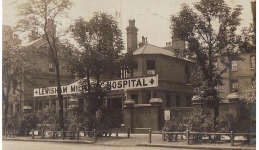 Lewisham Military Hospital WW1. Photographer unknown, photograph source moments-in time-lewisham-hospital