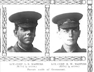 Masters brothers of Greenmount. Photo source Western Mail 27.9.1918
