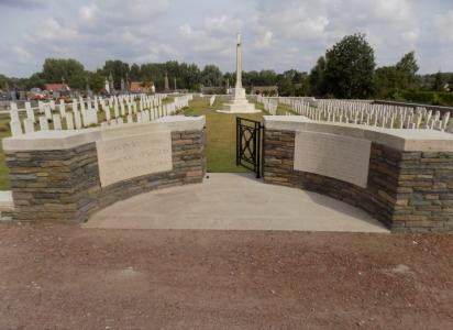 Mericourt Communal Cemetery Extension, France. Photographer unknown, photograph source CWGC