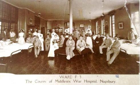 Middlesex War Hospital  at Napsbury. Photographer unknown, photograph source War Hospitals Aussie-mobs