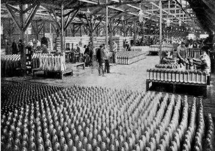 Munitions factory England c1917. Photographer unknown
