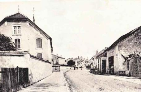 Neufchateau Hospital Road, Neufchateau, France  1919. Postcard