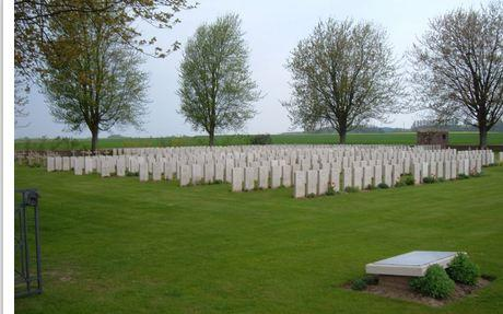 Nine Elms Military Cemetery, Thelus, France. Photograph source CWG