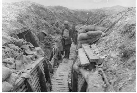 No.3 Section, Australian Tunnelling Company, near Hythe Tunnel at Hill 70 31.1.1918. Photographer unknown, image courtesy AWM E01712