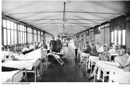 Orpington Hospital London 1917. Photographer unknown, photograph source AWM P00276.00