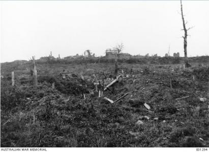 Outskirts of Messines c1918. Photorapher unknown, photograph sourced  AWM E0129