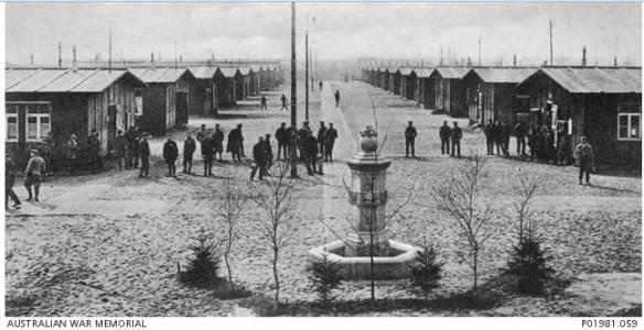 POW Camp at Dulmen. Photograph produced Munster Germany, photograph source AWM P01981.059