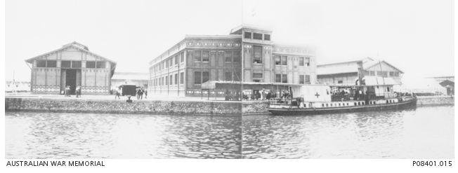 Panorama of the 14th General Hospital Port Said, 1918.  Photographer unknown, photograph source AWM P08401.015