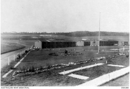 Parkhouse, AIF Training Camp, 1919. Photographer unknown, photograph source AWM D00280