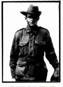 Pte. Frederick Pollard. Photograph source Western Mail 5.11.1915 p28