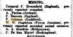 Pte. P. Johnson. West Australian 21.4.1917 p7