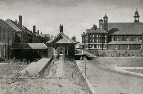 Queen Mary's Military Hospital, Whalley, Lancashire. Photographer unknown, photograph source flickr website