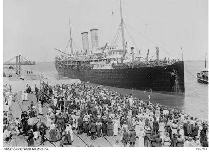 RMAS 'Osterley' 1917. Photographer Josiah Barnes, photograph source AWM PB0793
