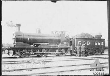 Railway Operating Company at Couchil-le Temple, France. Photographer unknown, photograph source  AWM A0214
