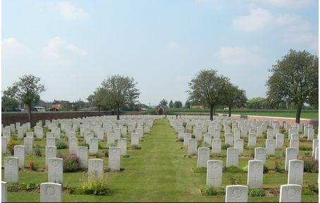Reninghelst New Military Cemetery, Popperinge, France. Photographer unknown, photograph source CWGC