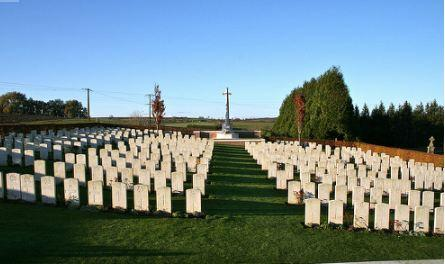 Ribbemont sur L'Ancre Communal Cemetery. Photograph source AWG photographic archive
