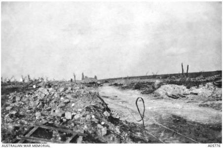 Ruined main Street Pozieres 1916. Photographer unknown, photograph source AWM A05776