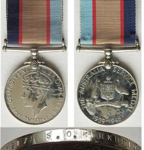 S.O.Kirkbride medals WW2. Source Military Memorabilia Ltd NZ