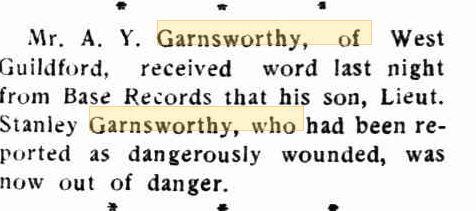 S.Y. Garnsworthy. Image source Swan Express 3.5.1918 p2