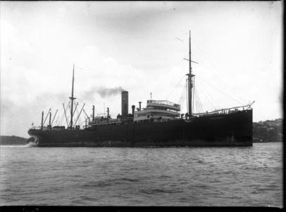 SS 'Barambah'. Photographer F. G Wilkinson 1923. Photograph source ANMM  000415322