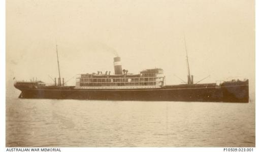 SS 'Mashobra'. Photographer unknown, photograph source Naval Collection AWM P10509.023.001