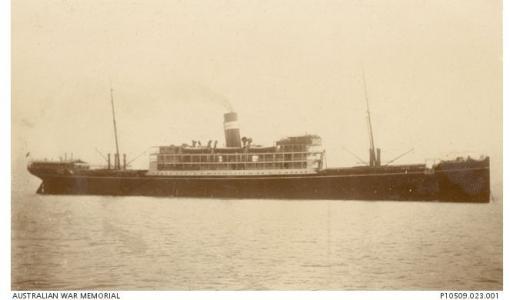SS 'Mashobra'. Photographer unknown, photograph source Naval Collection AWM P10509.023.001
