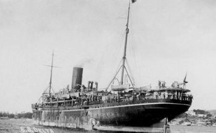 SS Delta. Photograph, postcard sourced  from Great Southern Cards