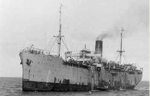 SS Port Darwin. Photographer unknown, photograph source slv picture number bs004061