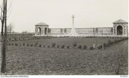 Section of VC Corner, Fromelles, France- burial place of the unidentified. Photograph donated by  St Barnabas Pilgrimages, London. Photograph source AWM H12655