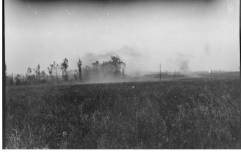 Shelling of Hamel.  Photographer unknown, photograph source AWM E02618