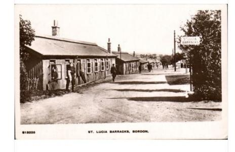 St. Lucia Barracks, Borden, Hampshire WW1. Postcard WHS Kingsway