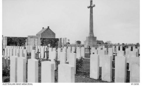 The Strand Military Cemetery, Ploegsteert Wood, Belgium. Photograph donor Sir hHrbert Ellison, photograph source AWM H1265