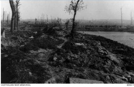Trenches by Zillebeke Lake  29.9.1917. Photographer unknown, photograph source AWM E04611