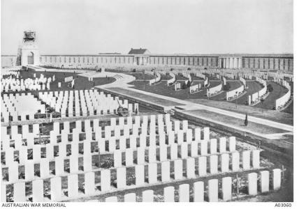 Tyne Cot Cemetery with 11898 service graves. Photographer unknown, photograph AWM A0360