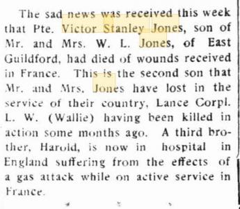 Victor Stanley Jones. Source Swan Express 11.1.1918 p2