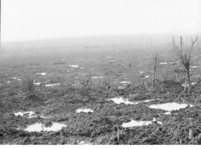 View from Broodseinde Ridge, Passchendaele 1917. Photographer unknown, image courtesy AWM E00961