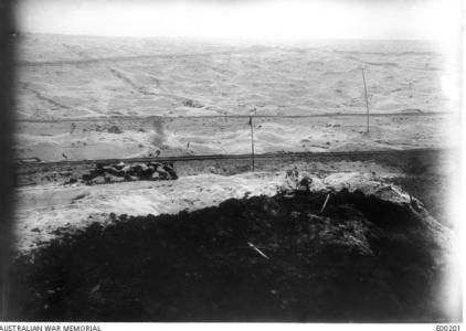 View from Mouquet Farm area. Photographer unknown, photograph sourced from AWM E00201