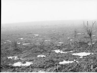 View from Pozieres ridge 1917. Photographer unknown, photograph source AWM E00532